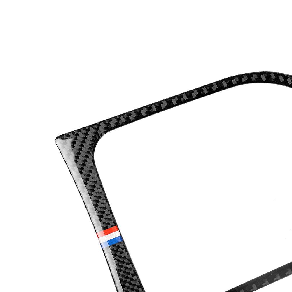 For Ford Mustang 15-17 Carbon Fiber Gearshift Panel Frame Red+White+Blue