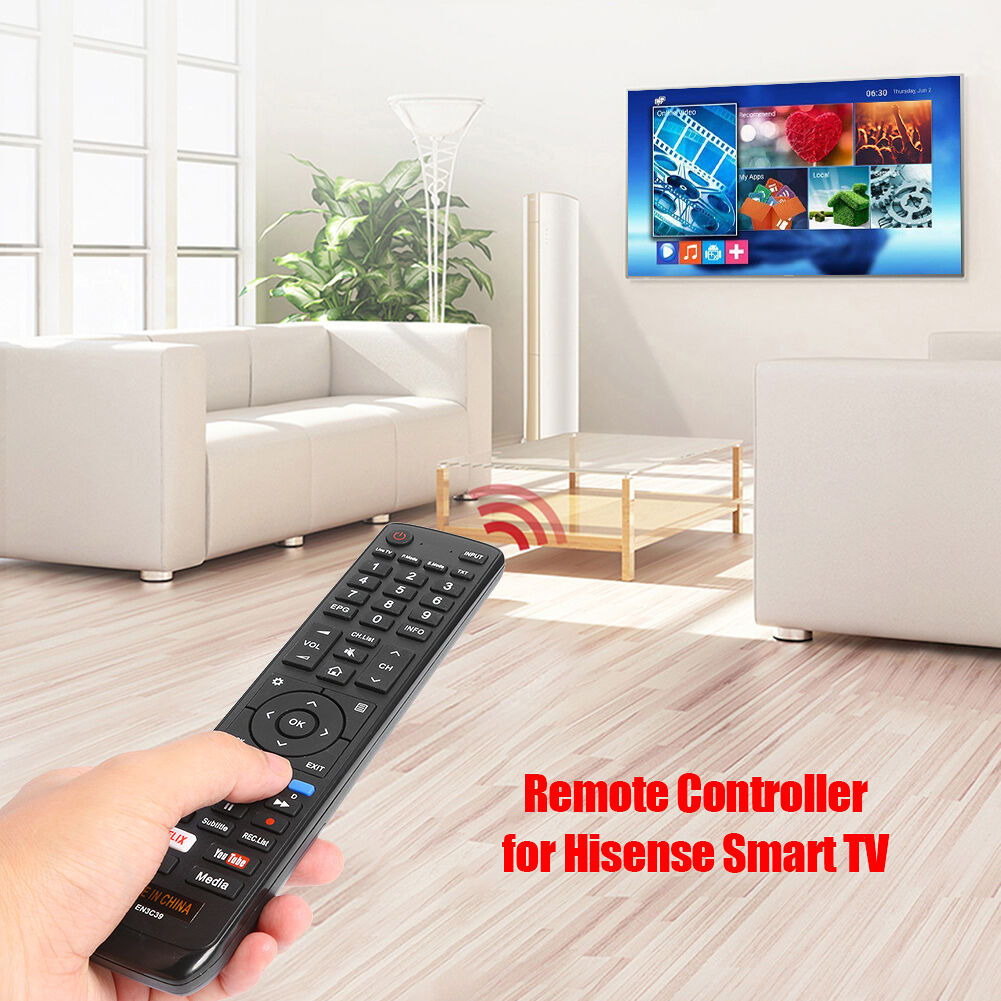 EN3C39 Smart TV Remote Control for Hisense 50N7 55N7 Replacement Switch