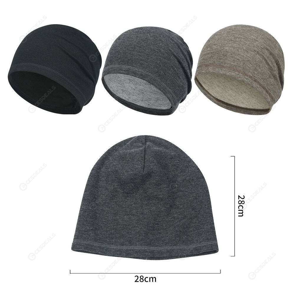 Women Men Outdoor Warm Cap Breathable Cycling Running Beanie Hat (Black)