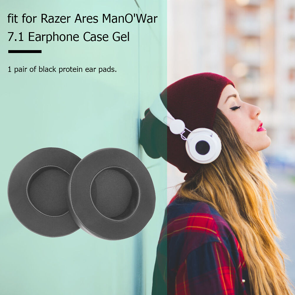 1 Pair Gel Gaming Headphone Replacement Ear Pads for Razer ManO War 7.1