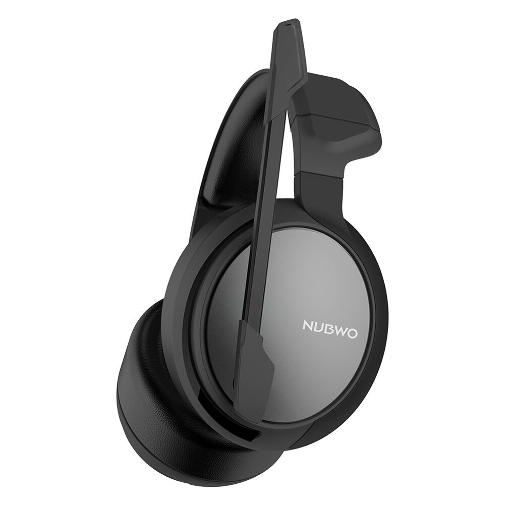 NUBWO N12 3.5mm Wired Game Headphone 7.1 Surround Mic Headset (Silver)