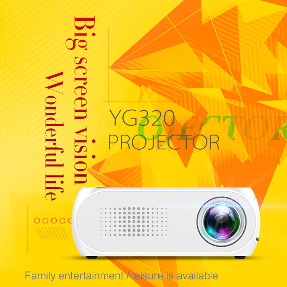 YG320 LED Mini Projector 1080P HDMI USB 3.5mm Audio TF Media Video Player
