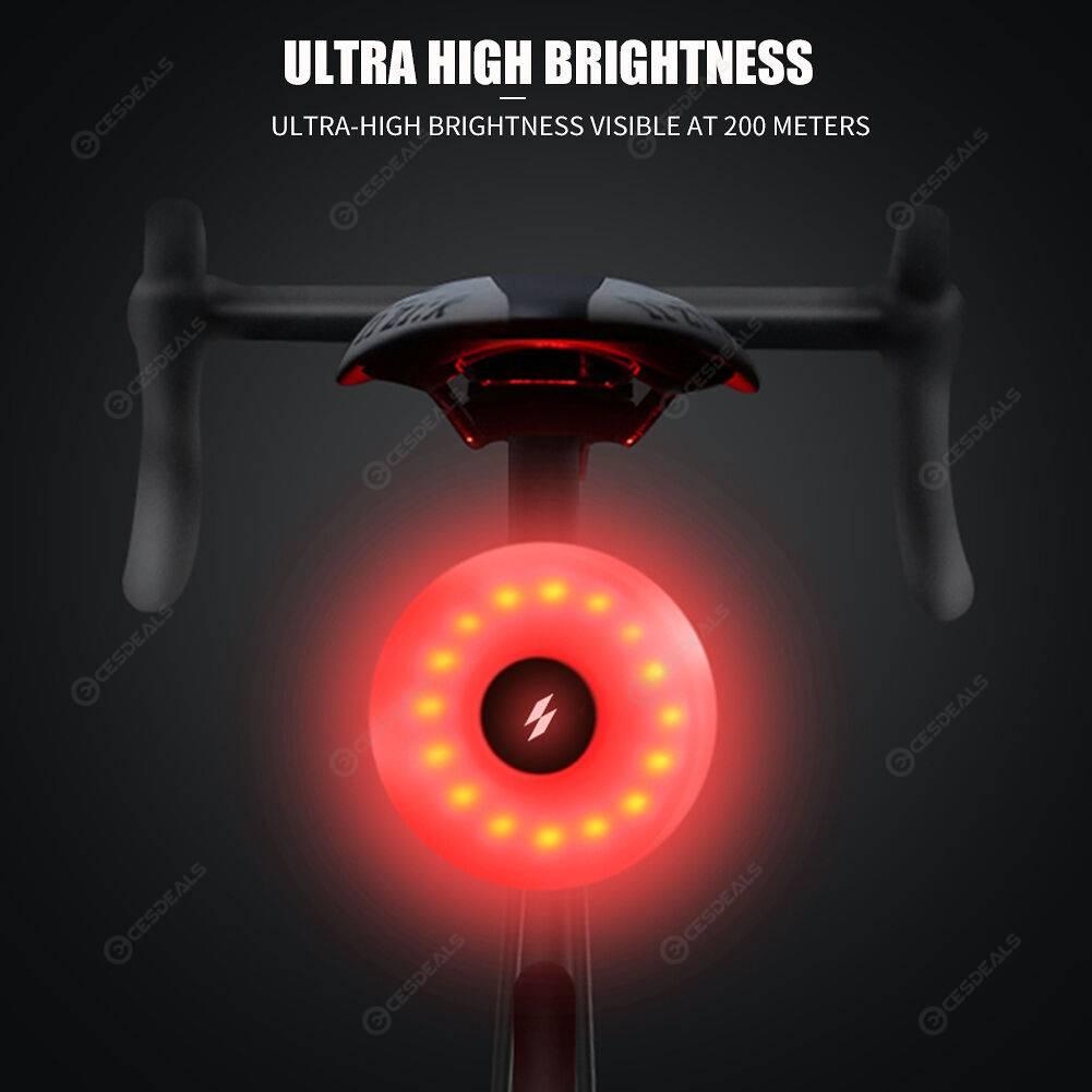 SAHOO 20LM Waterproof Bicycle Rear Warning Lamp 5 Mode 16LED Bike Taillight