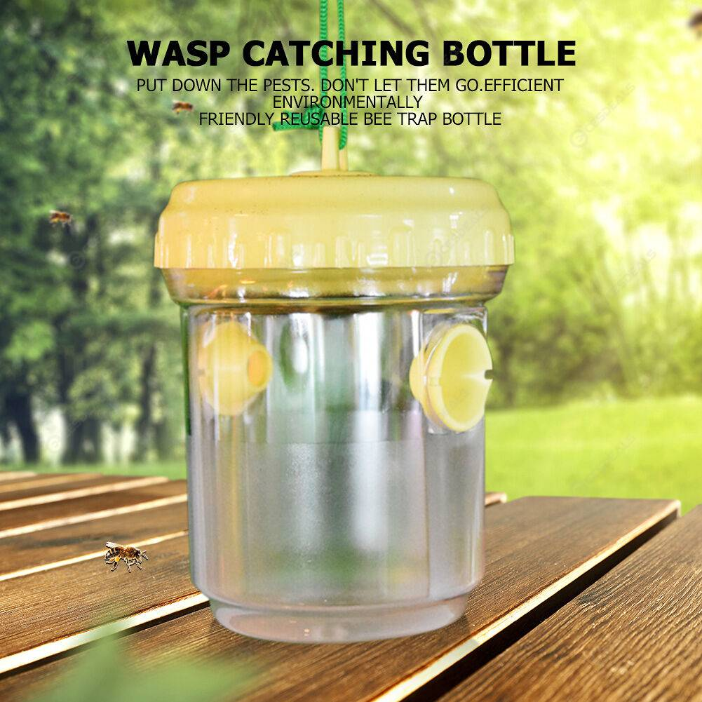 2pcs Non-toxic Bee Catcher Insect Fly Wasp Trap Plastic Bottle for Garden