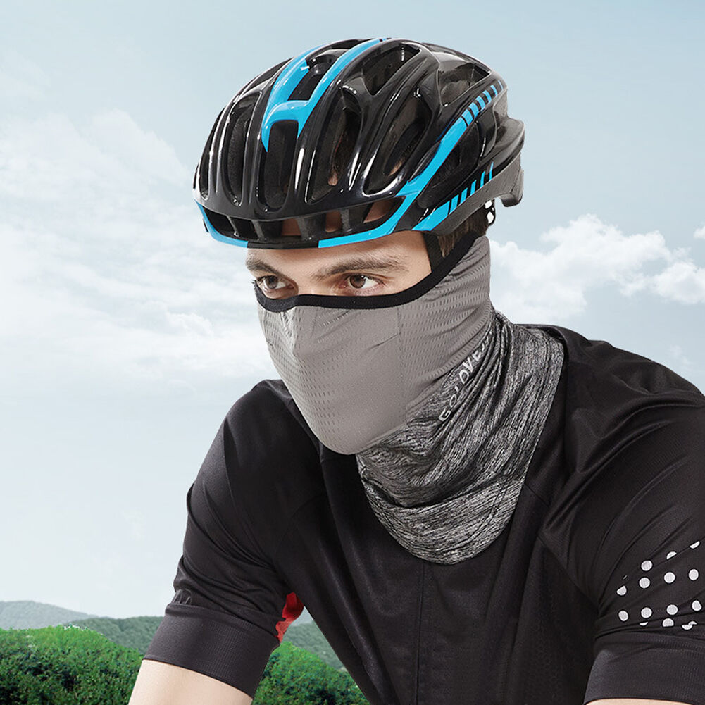 Ice Silk UV Protection Mask Outdoor Riding Scarf for Women Men (Light Grey)