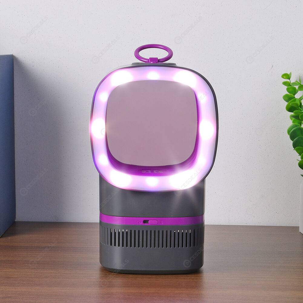 Electric Mosquito Repellent Killer LED Photocatalyst Trap Lamp (Purple)