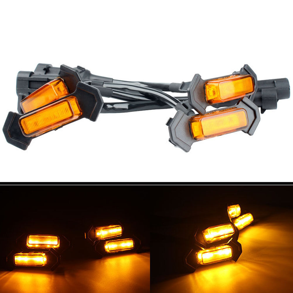 4pcs Amber LED Front Grille Light Lamps for Toyota Tacoma TRD Pro 2016-2019