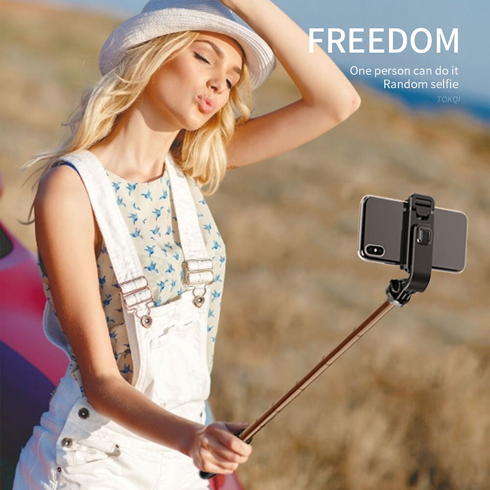 L02 Selfie Stick Phone Holder Bluetooth Live Video Foldable Tripod (Black)