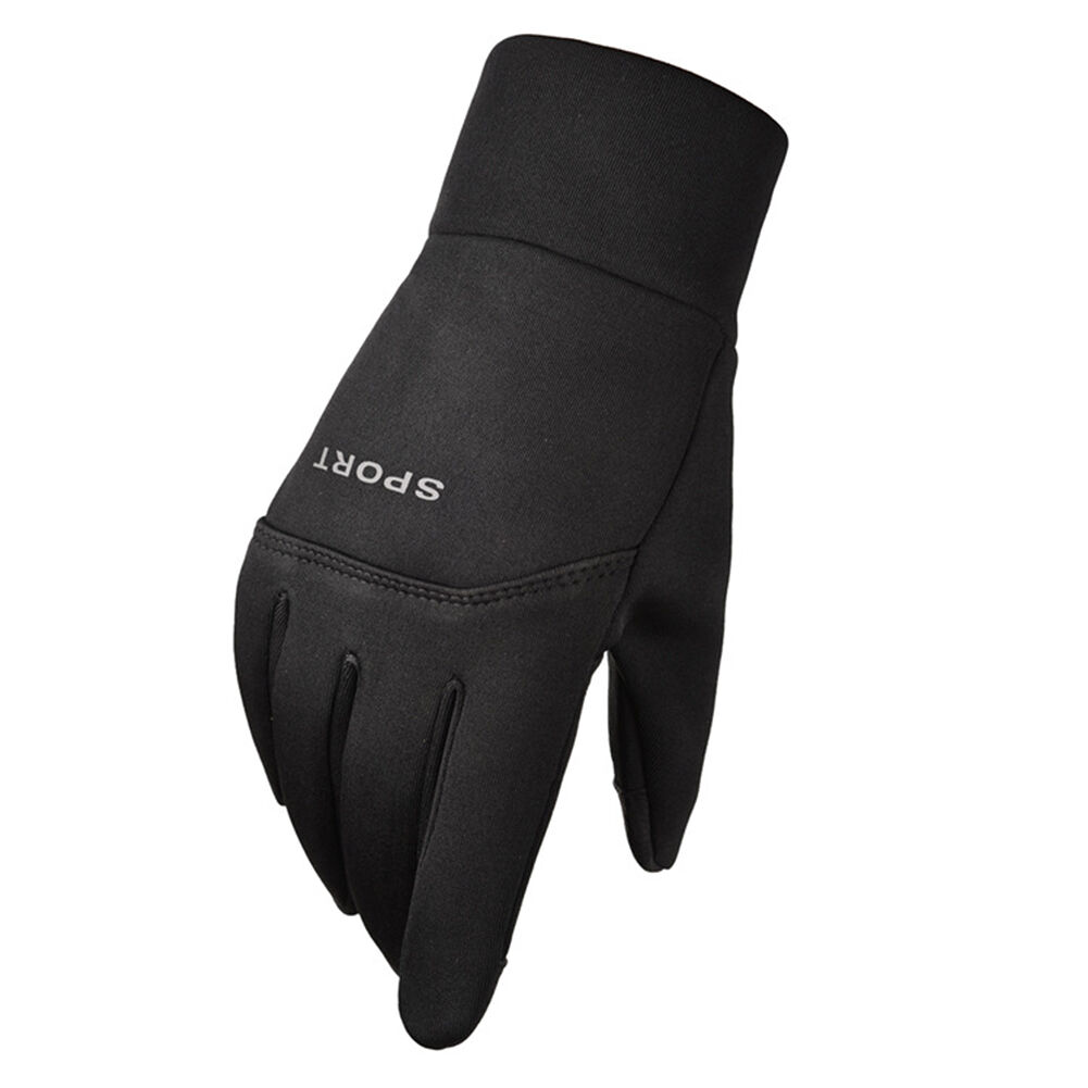 2x Fleece Outdoor Cycling Gloves Unisex Touch Screen Waterproof Gloves (XL)