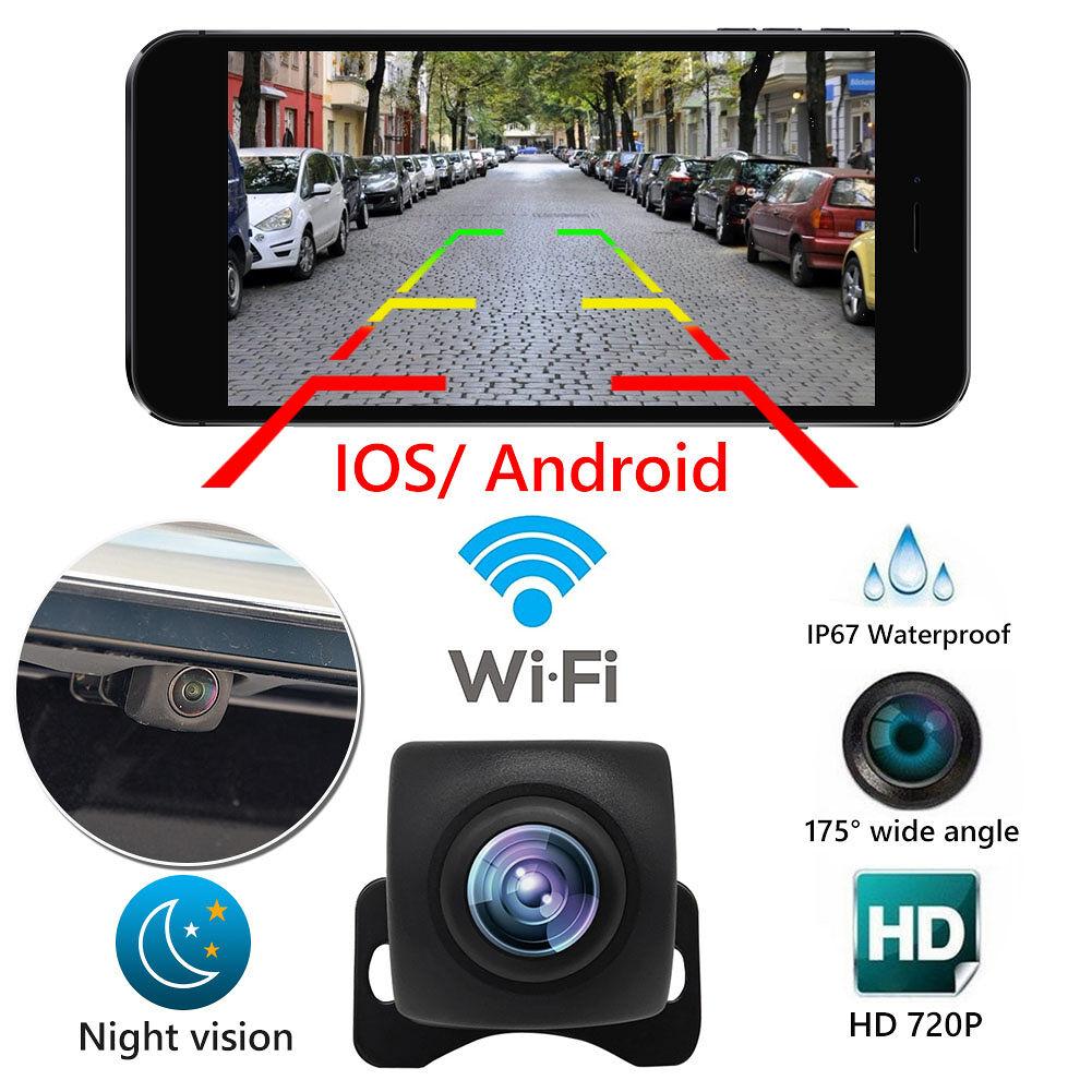 WiFi 720P HD Car Rear View Camera Waterproof Night Vision Reversing Camera