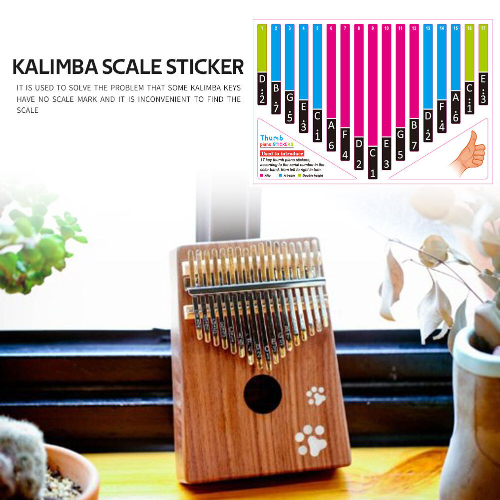 Kalimba Scale Sticker Thumb Finger Piano Key Note Stickers for Learner