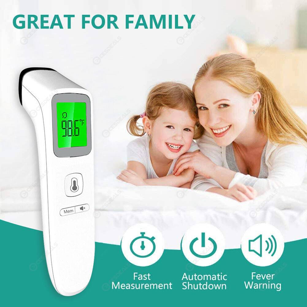 Digital Infrared Thermometer Non-Contact Forehead Body Temperature Tester