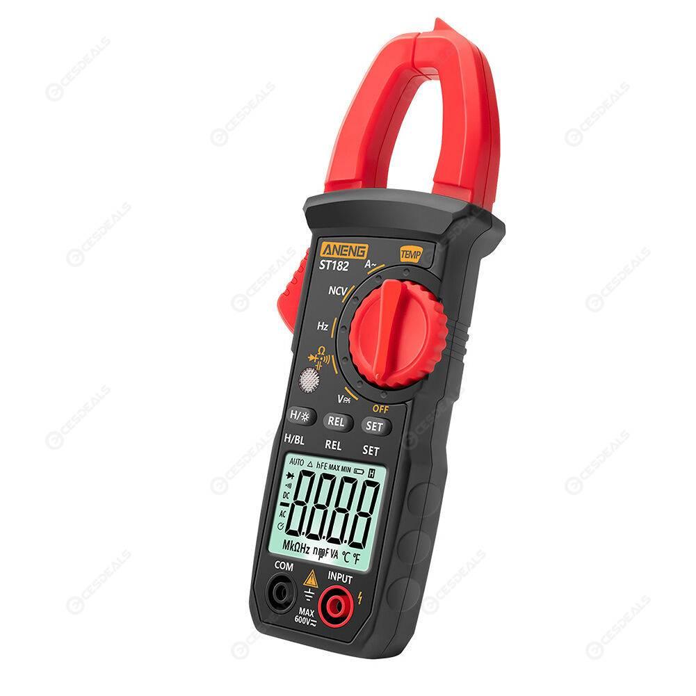 ST182 Digital Clamp Meter AC/DC Voltage Current Tester Multimeter Voltmeter