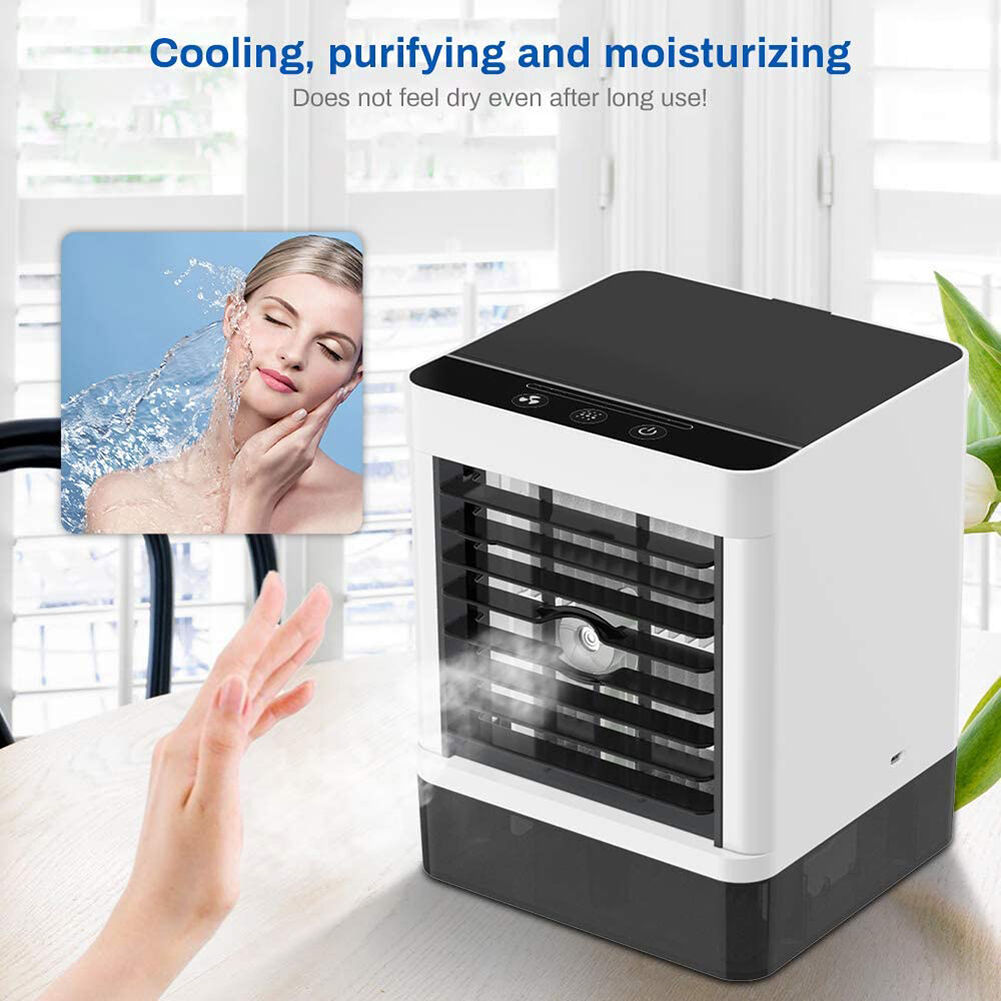 USB Powered Desktop Mini Air Cooler Home Office Water Tank Fan Humidifier