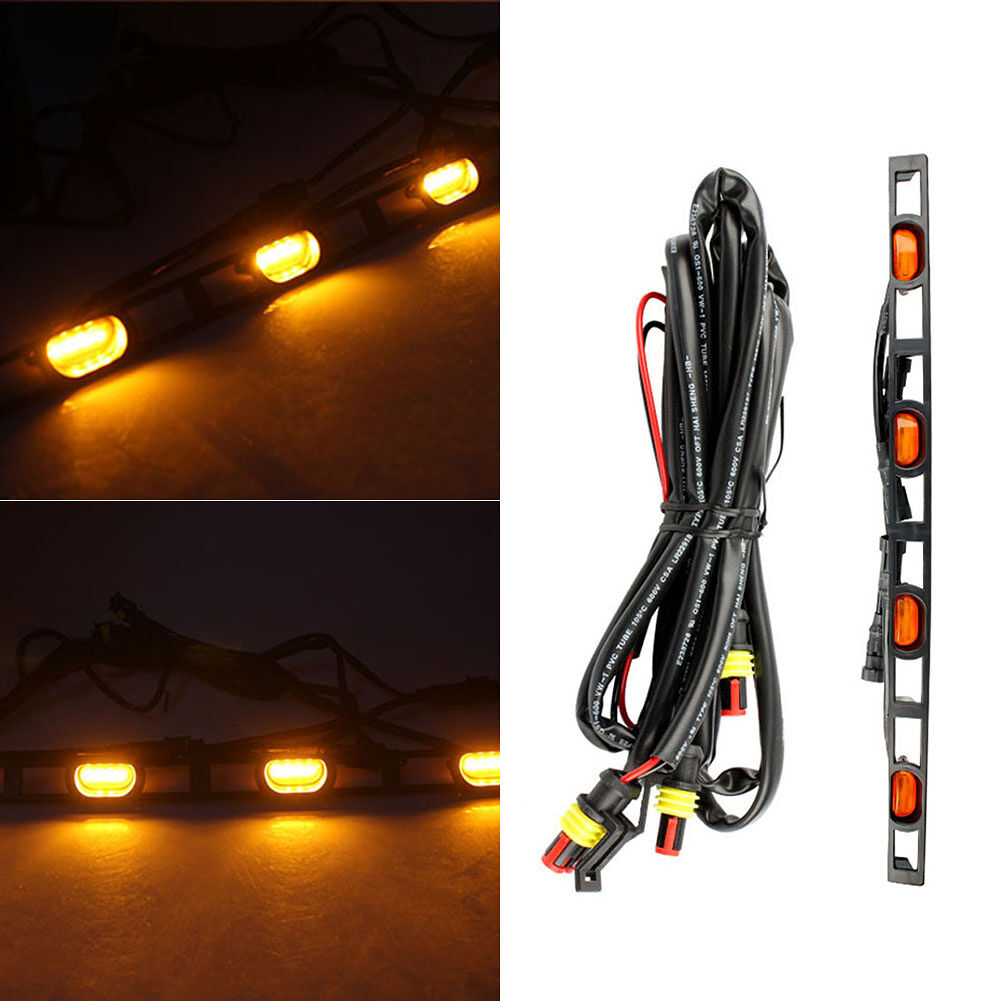 4pcs Amber Lens LED Front Bumper Grille Light for Toyota Tacoma 2012-2015