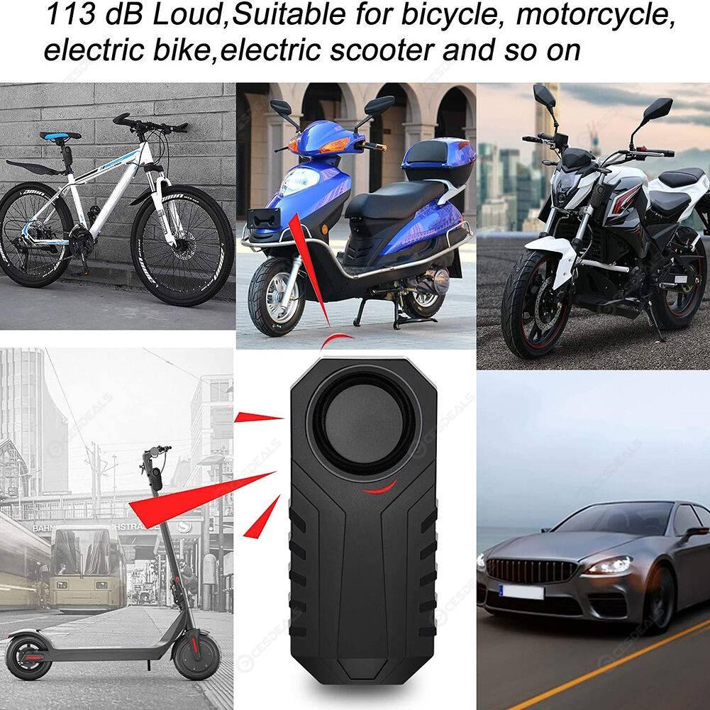 113dB Bicycle Motorcycle Alarm Wireless Anti Theft Vibration Security Alarm