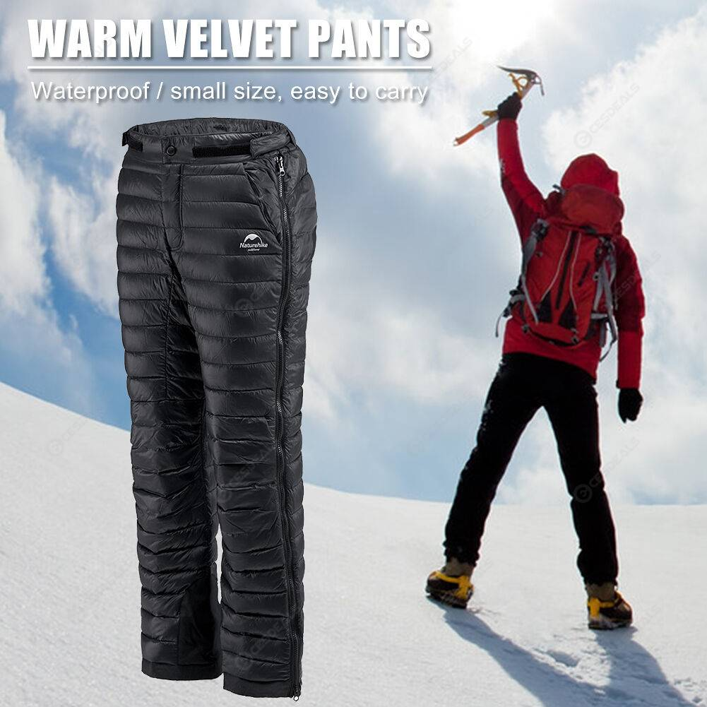 Naturehike Women Men Waterproof Outdoor Camp White Goose Down Pants (M)