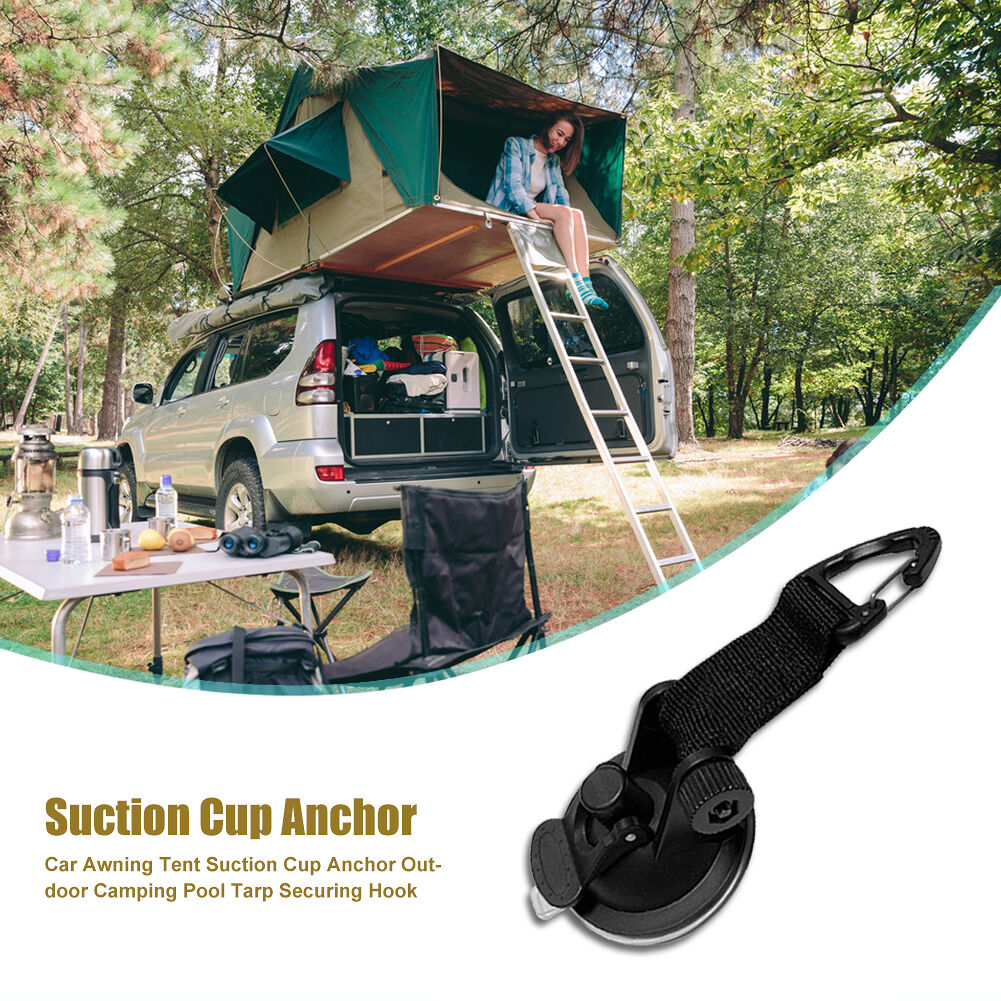 Car Awning Tent Suction Cup Anchor Outdoor Camping Pool Tarp Securing Hook