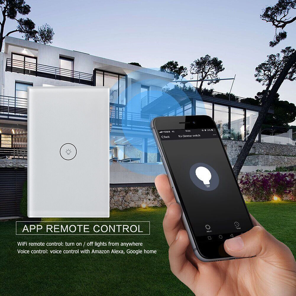 WiFi Remote Control Smart Switch Touch Wireless Wall Lamp Switches US Plug