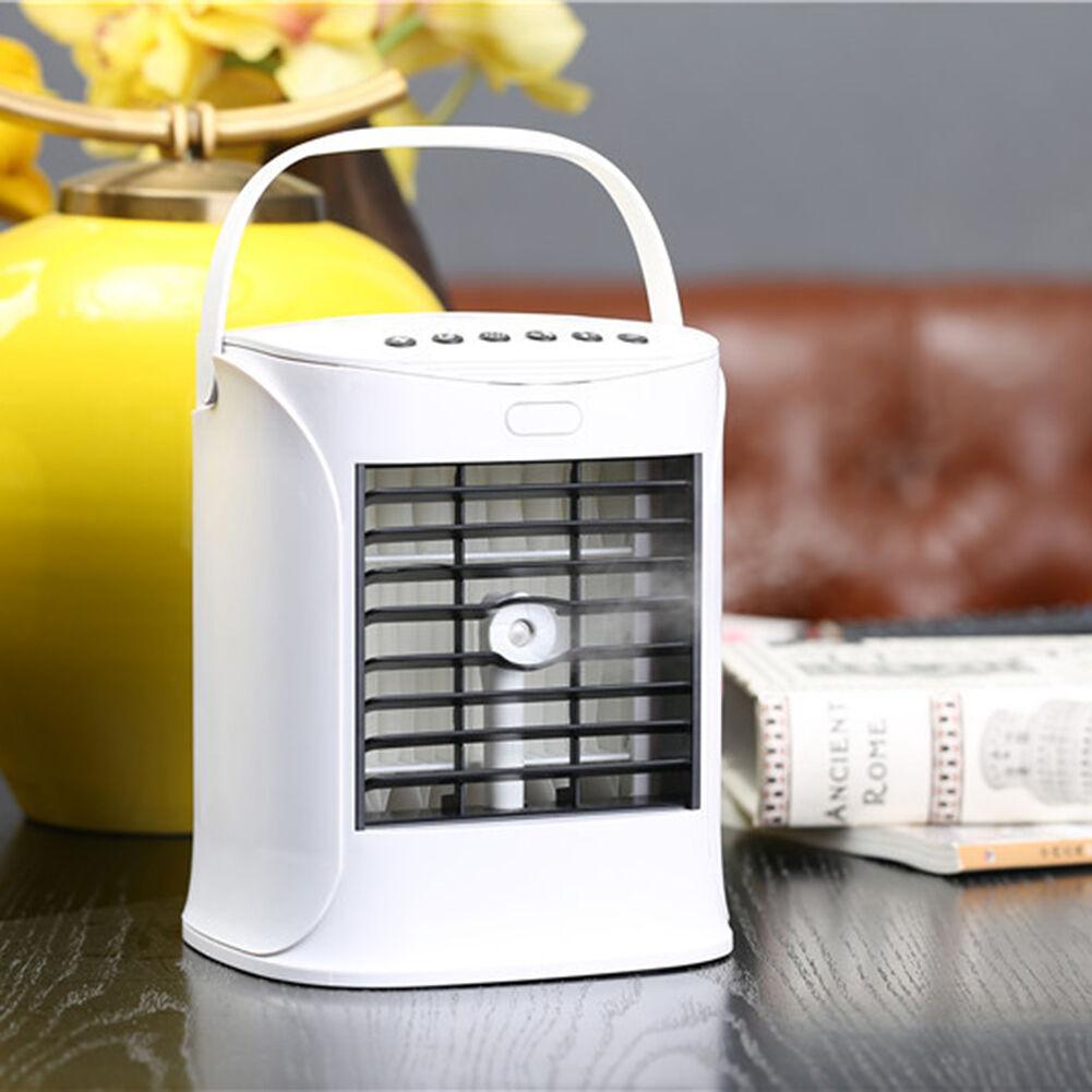 USB Powered Air Conditioner Water Tank Desktop Mini Cooler Fan Humidifier