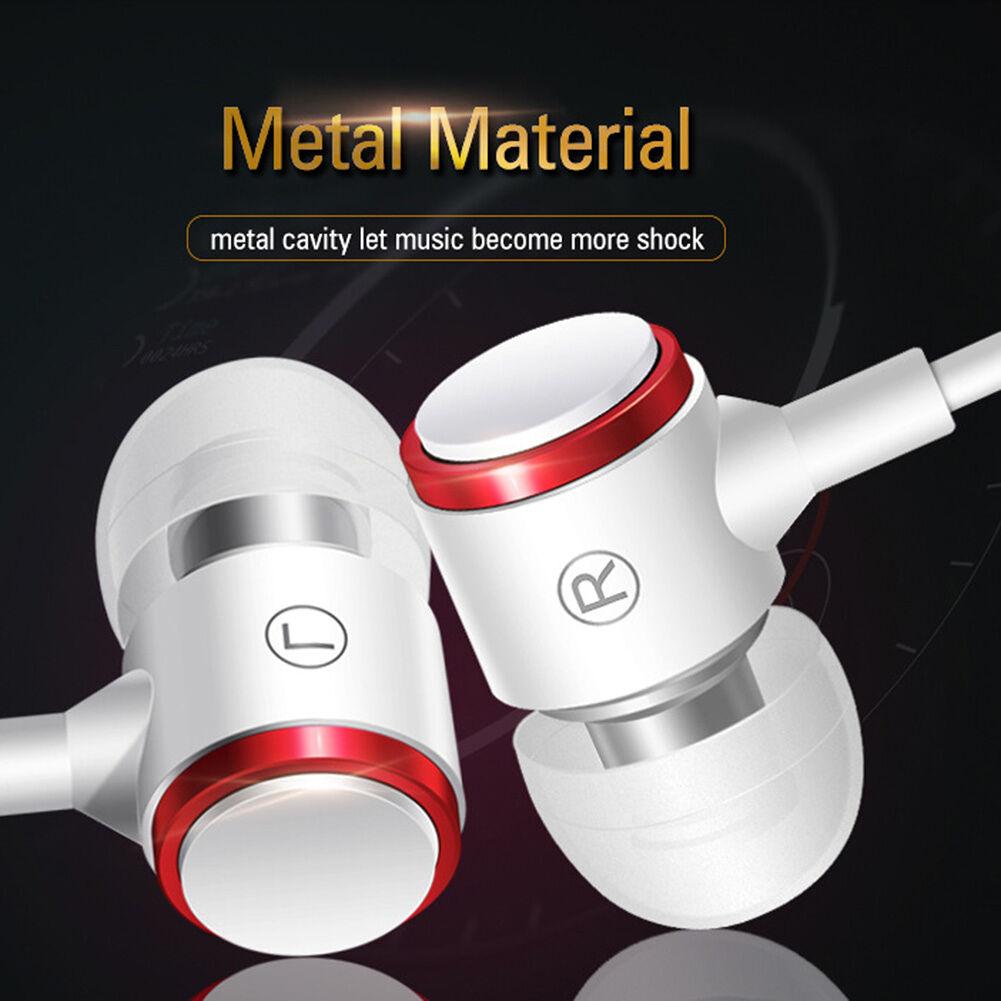 3.5mm Wired Earphone Deep Bass Line Control In-Ear Music Headphone (White)