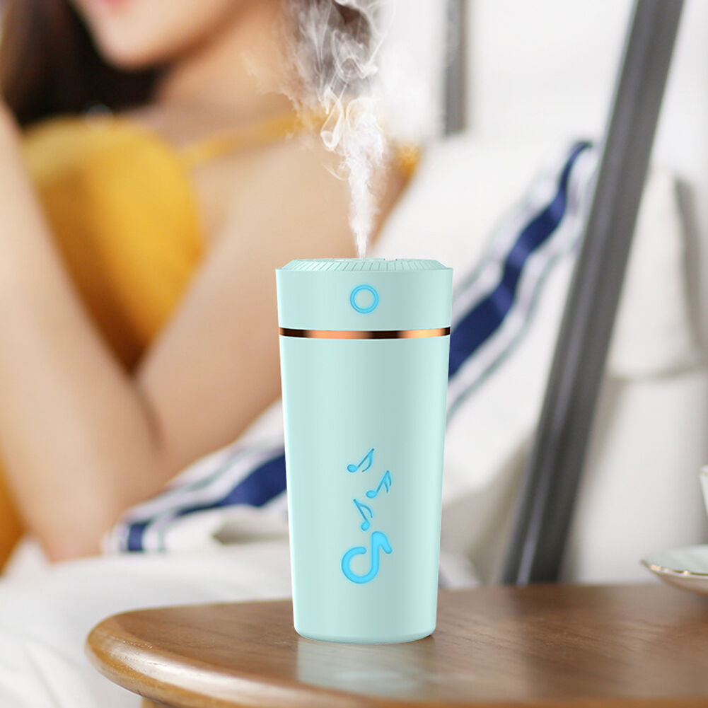Air Humidifier Low Noise Fine Mist Spray Humidifier for Car Home (Blue)