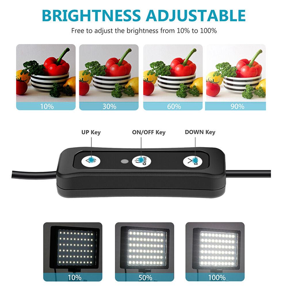2x USB LED Light for Video Studio Live Photography Desktop Selfie Lamp Kit