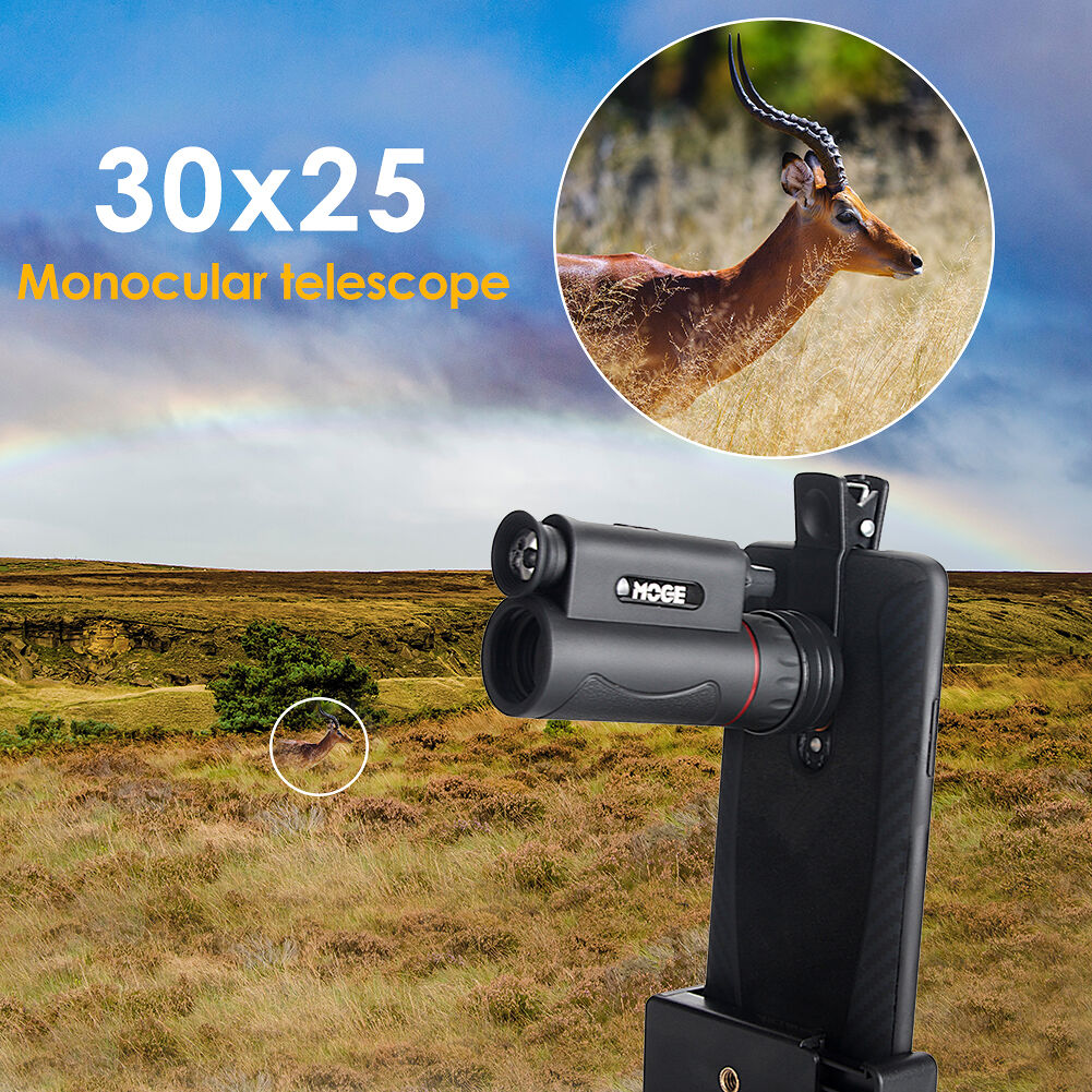 30X25 Sightseeing Pocket Monocular Scope Night Vision Outdoor Telescope Kit