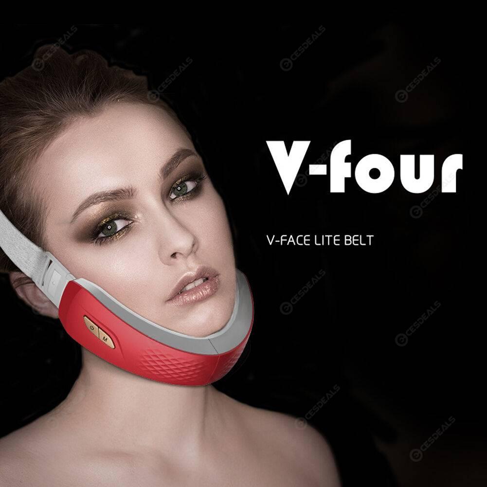 Remote Control Face Chin V-Line Belt Blue LED EMS Facial Lift Up Machine