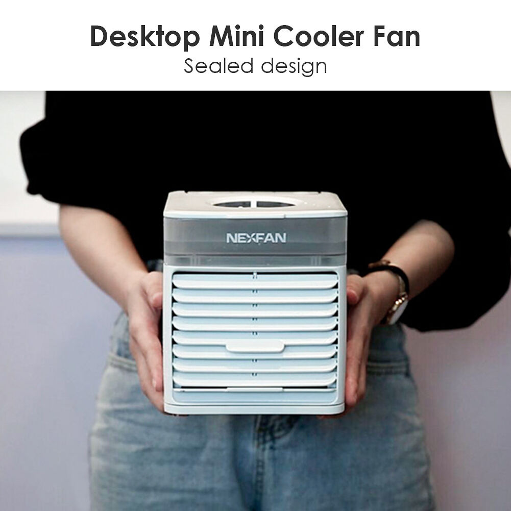 Desktop Mini Cooler Fan Water Tank Speed Adjustable USB Air Conditioner