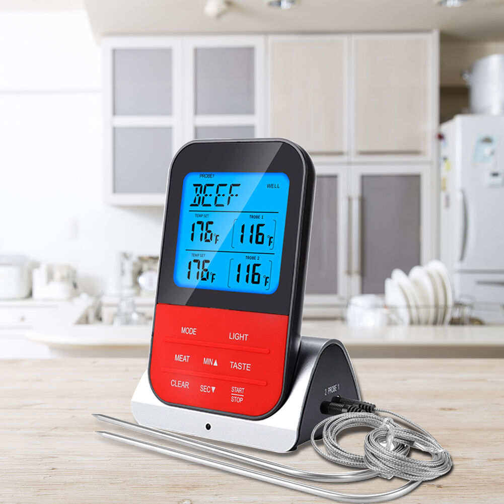 Dual Probe Digital Wireless BBQ Meat Thermometer with Timer Kitchen Tools