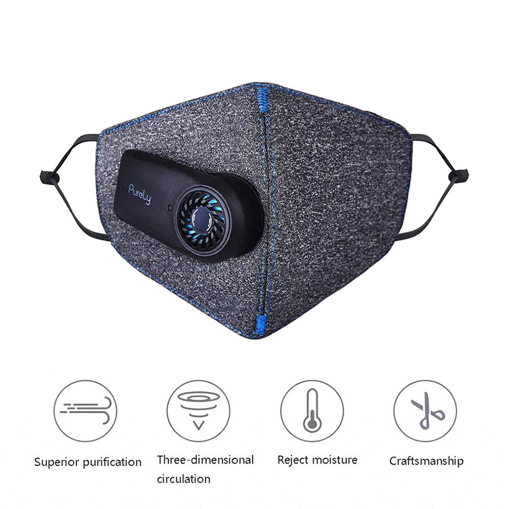 Xiaomi Purely Anti-Pollution Air Mask Face Cover Respirator w/ PM2.5 Filter
