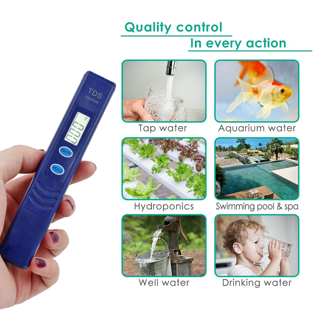 High Accuracy TDS Meter Water Quality Tester Automatic Calibration Test Pen