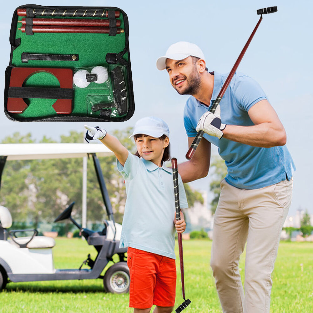 Golf Putting Trainer Kit Putter Club Practice Aids Supplies with Balls Goal