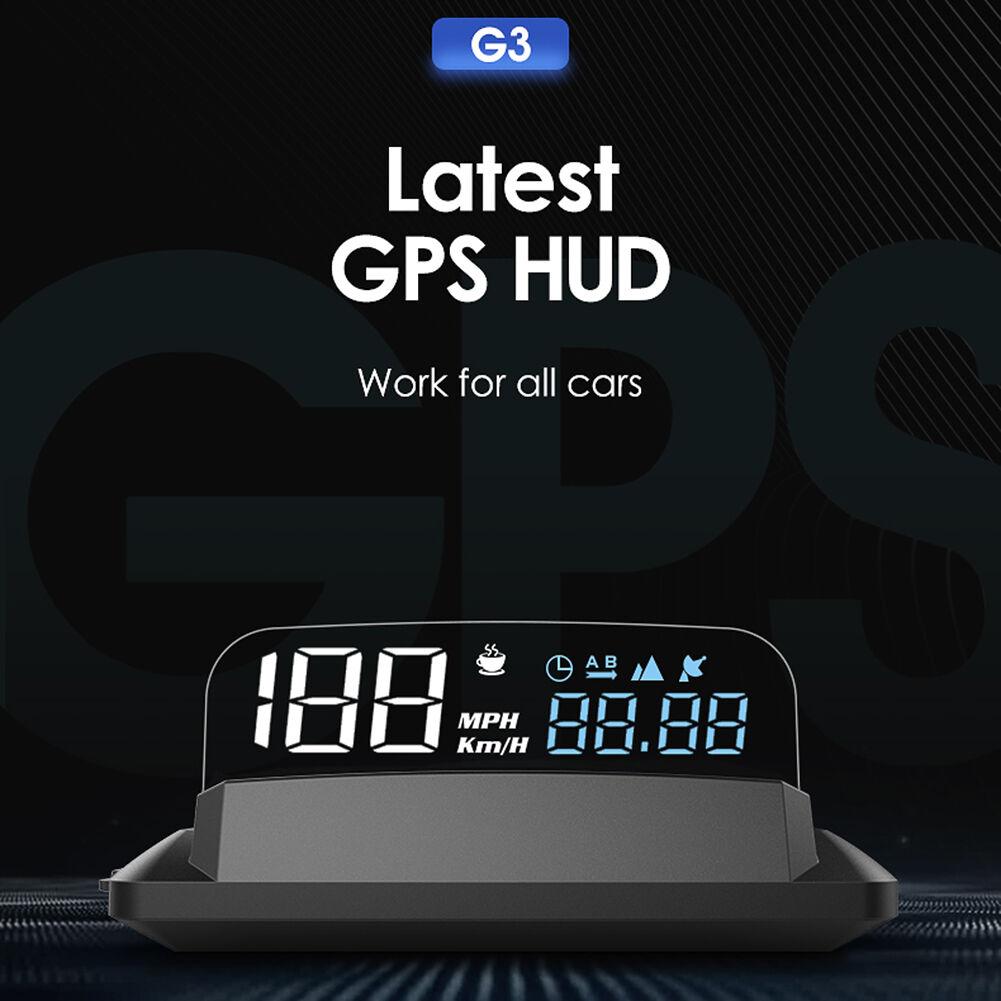G3 Car HUD GPS Speedometer Overspeed Alarm Fatigue Reminder Altitude Meter