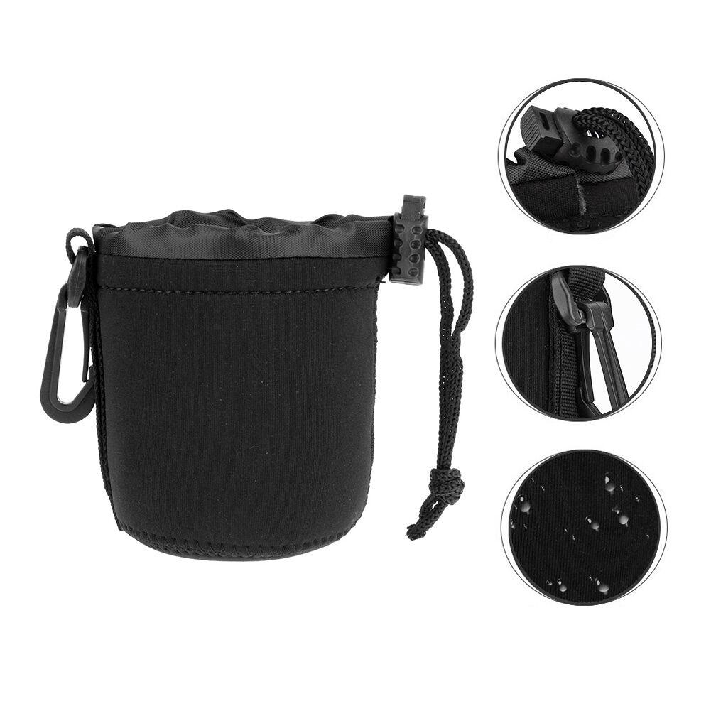 Neoprene DSLR Camera Lens Pouch SLR Lens Shockproof Soft Protective Bag (S)