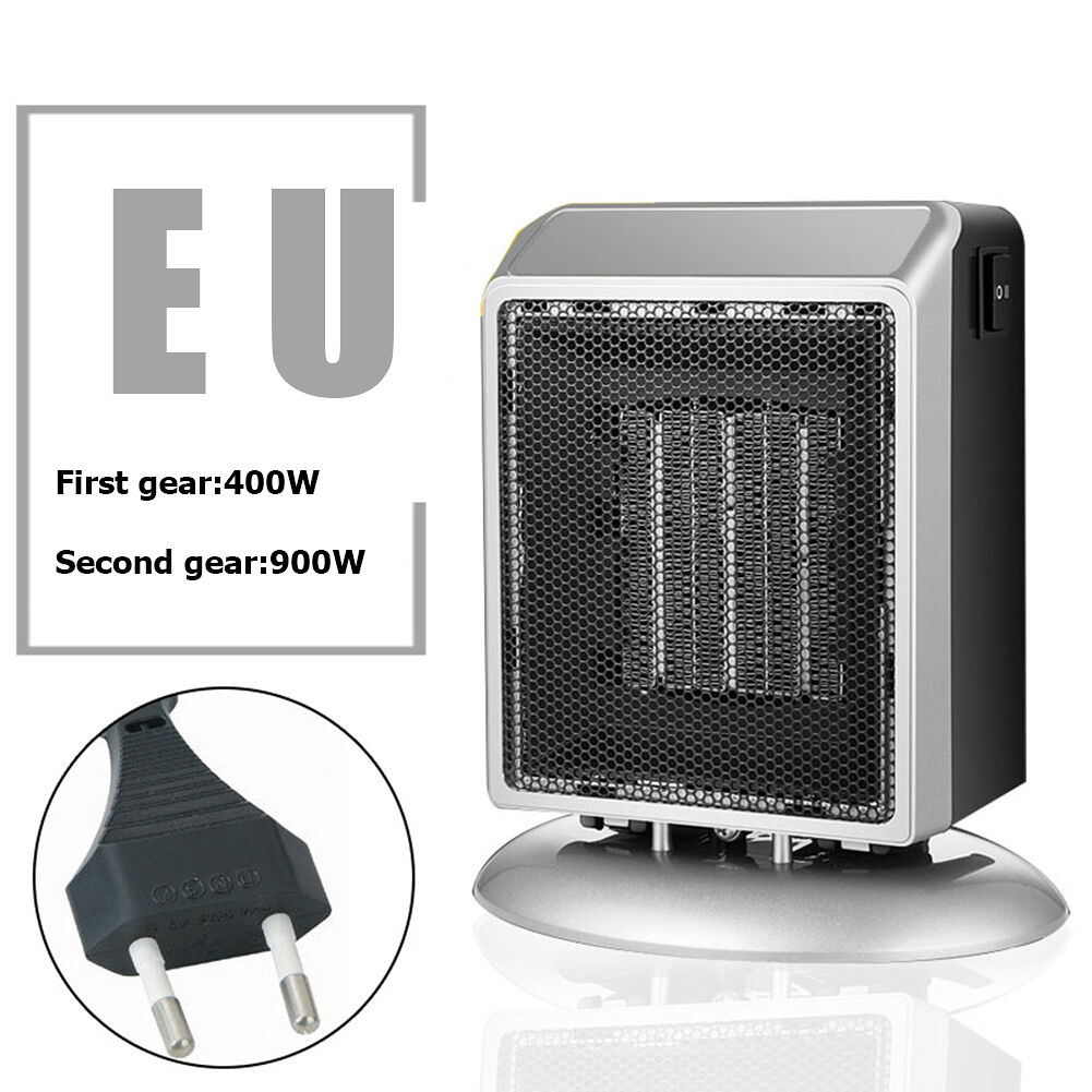 Portable PTC Ceramic Heater Electric Winter Stove Radiator (Silver 220V)