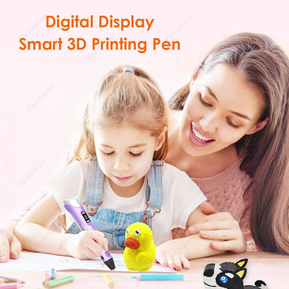 Children Educational Toy DIY Graffiti Painting Pen 3D Printing Pen (Purple)