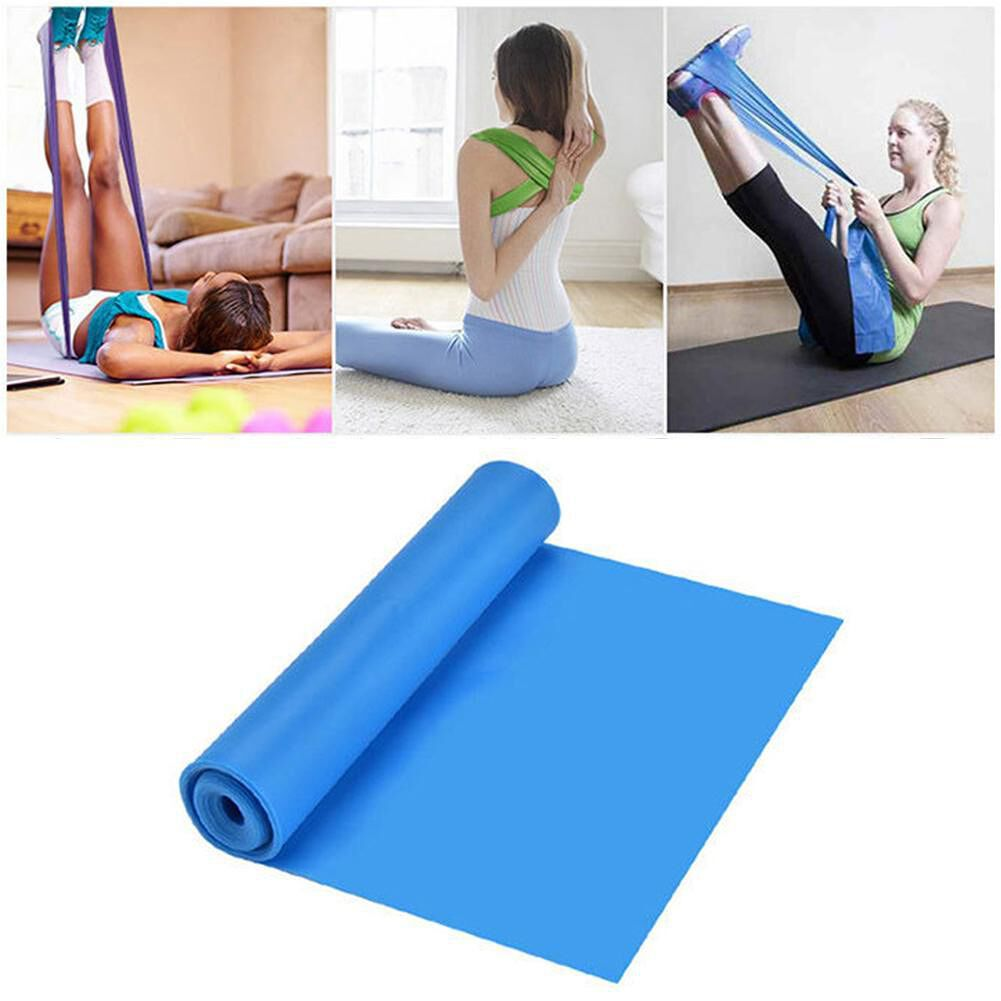 Yoga Pilates Resistance Band Workout Pull Rope Fitness Equipment (Blue)
