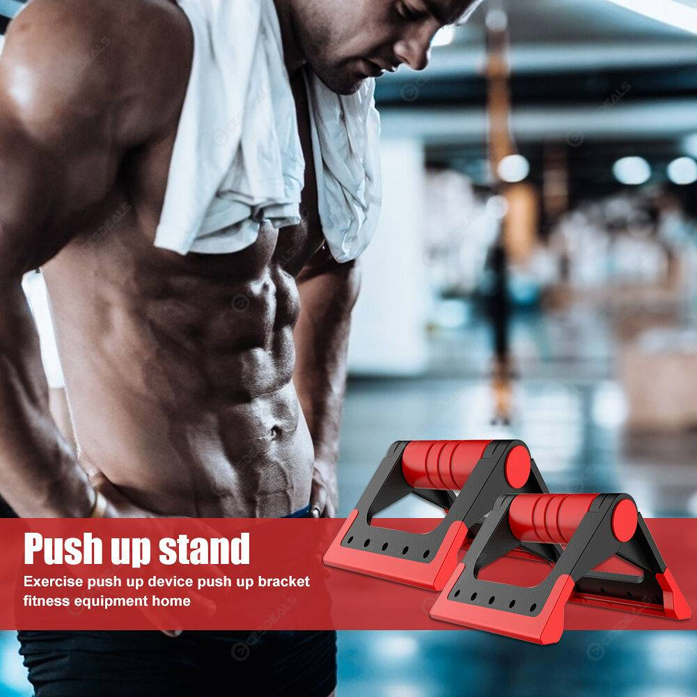 Foldable Body Building Fitness Tools Anti-slip Muscle Trainer Push Up Stand