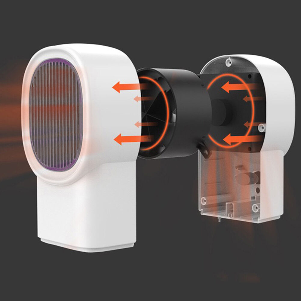 500W Electric Heater Mini Desktop Warmer Machine for Home Office (White EU)