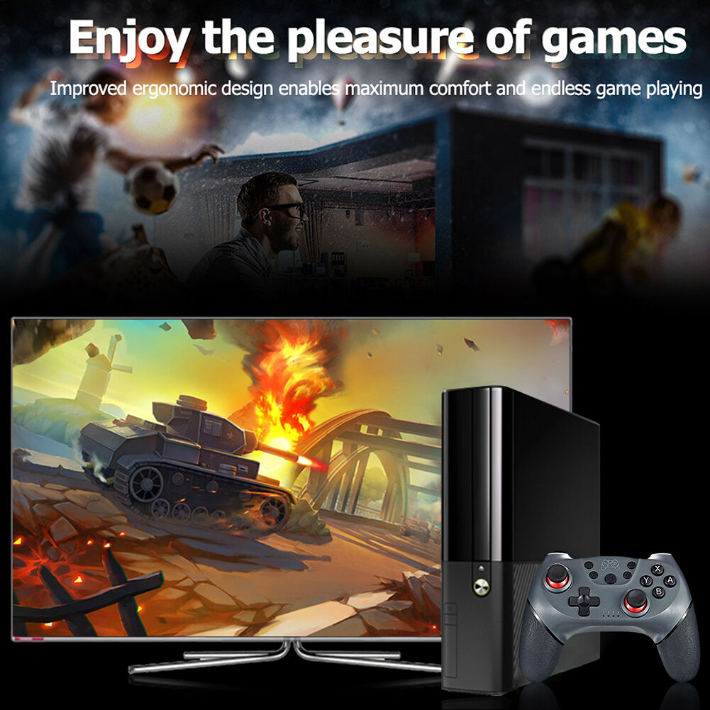 Bluetooth Dual Motor Vibration Wireless Controller for Switch/Switch Pro
