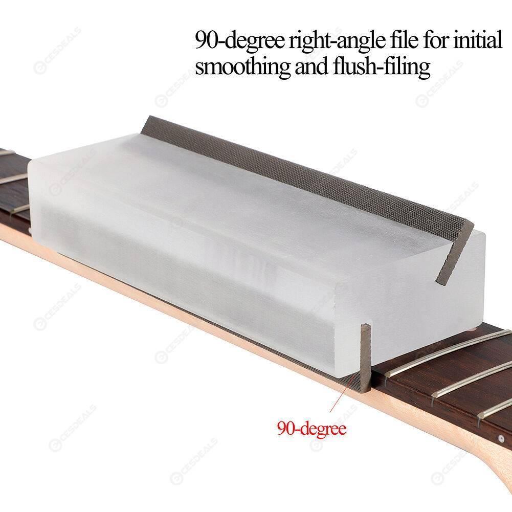 Guitar Fret Crowning File Luthier Repair Polishing Tools Bevel-flush Files