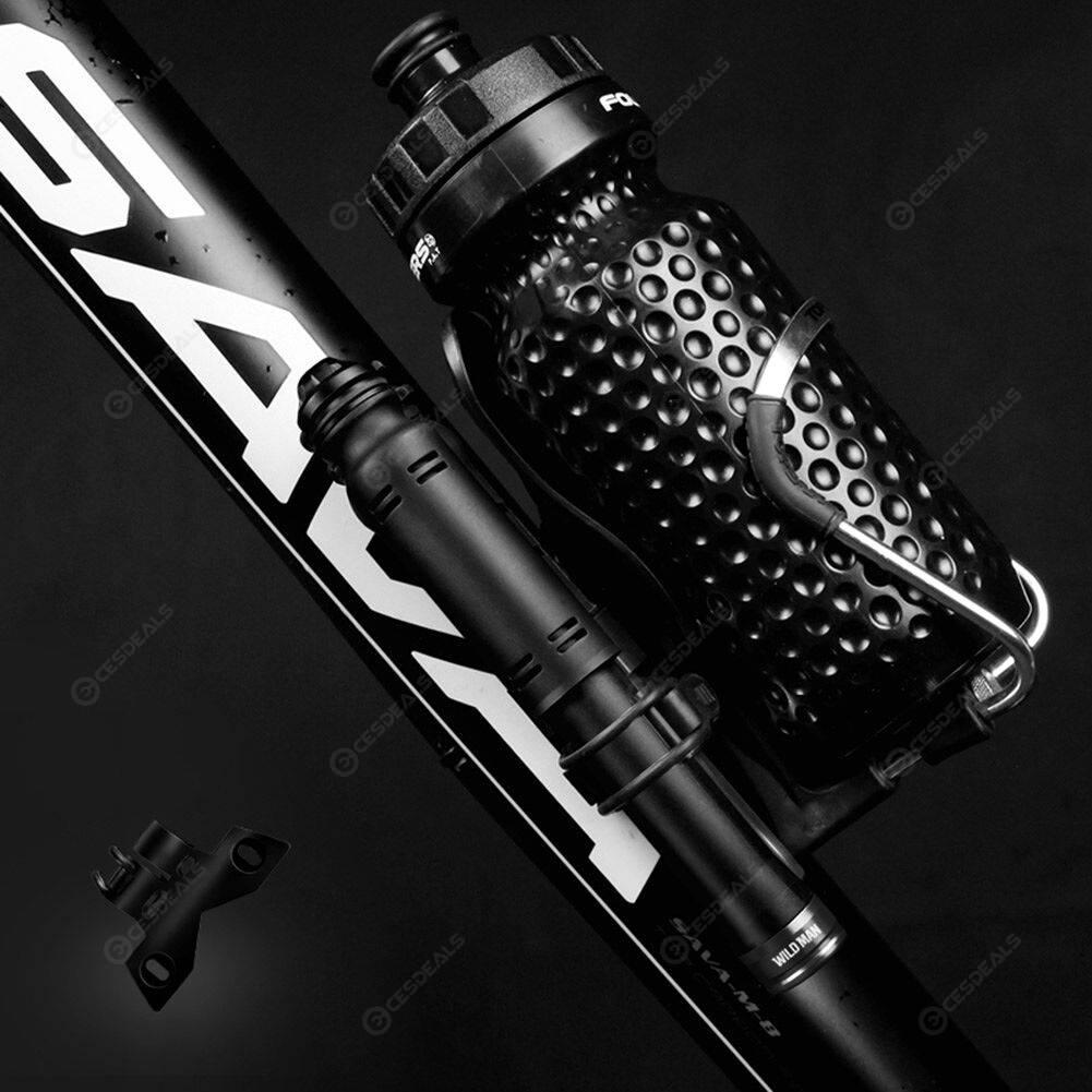 WILD MAN GK3 110psi MTB Bike Pump Kit for American/Presta Valve (Black)