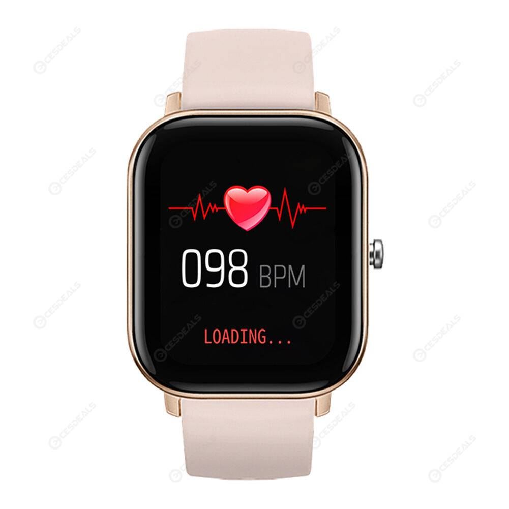 P8 1.4 inch Touch Smart Bracelet Heart Rate Monitor Fitness Tracker (Gold)
