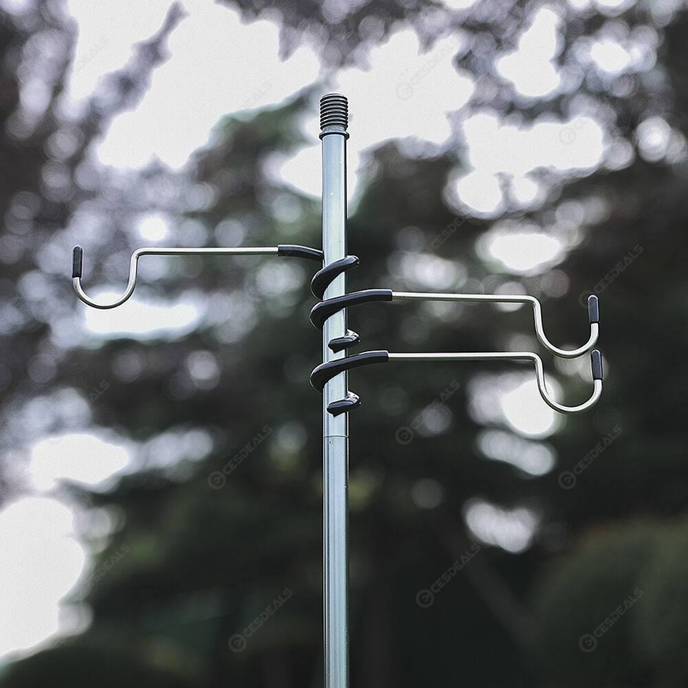 Aluminum Alloy Outdoor Tent Lamp Holder Hook Camping Hunting Lantern Hanger