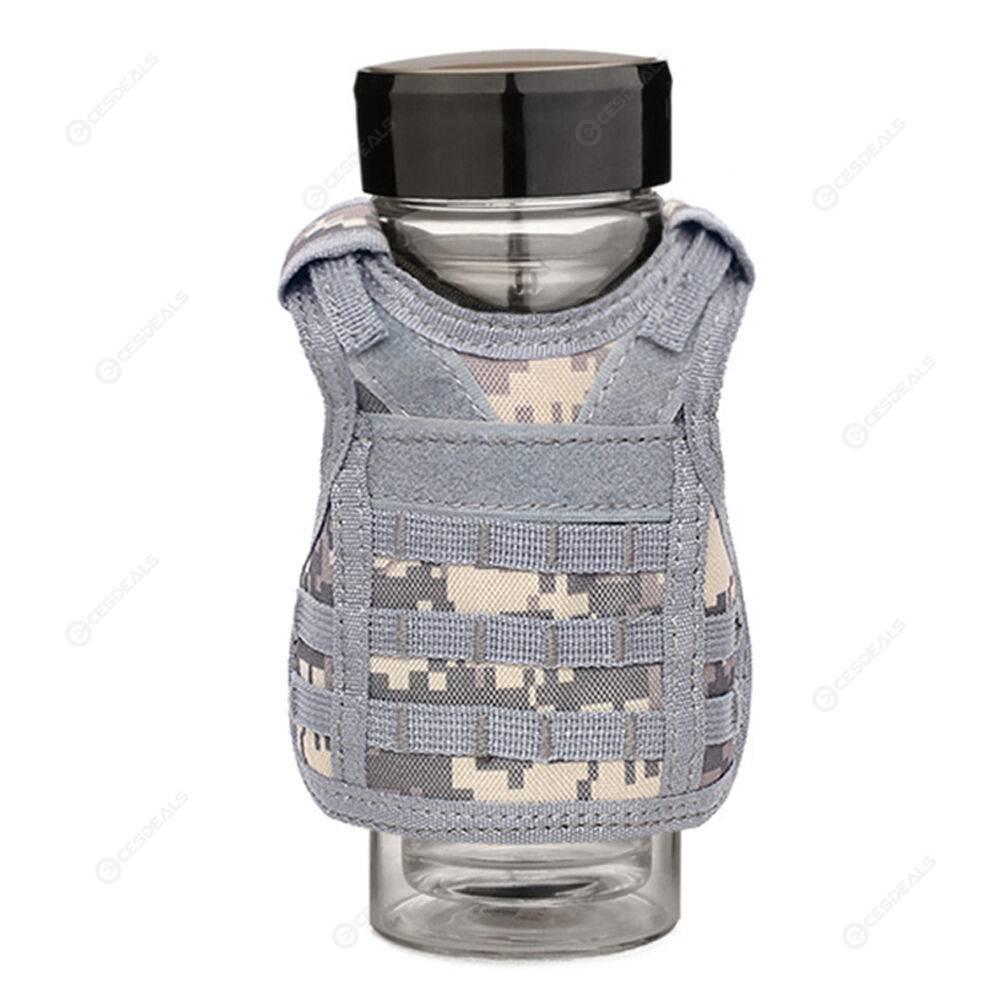 Beer Bottle Molle Mini Vests Cooler Beverage Drink Cover (ACU Digital)