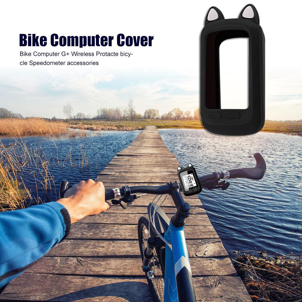 TOOPRE Cat Ear MTB Bike Silicone Odometer Computer Protective Case (Black)