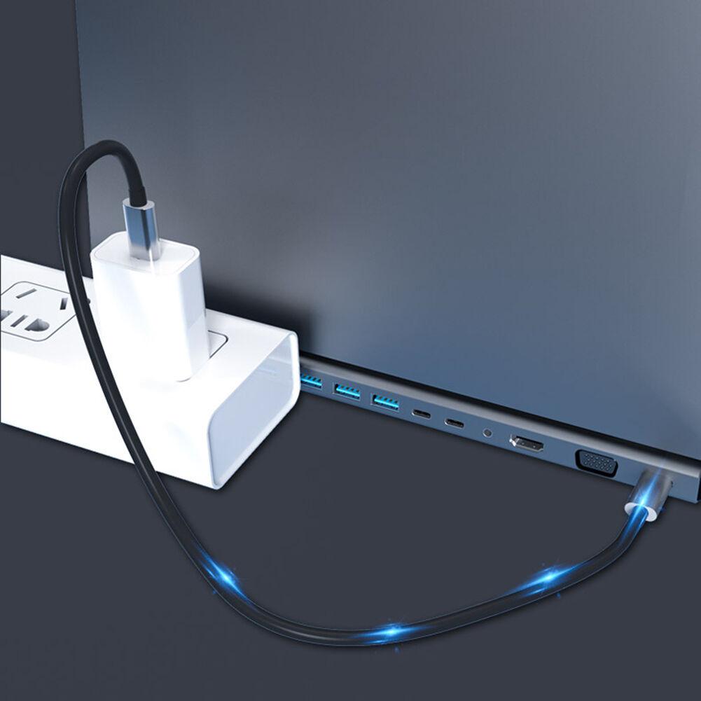 14 in 1 Type-C HUB HDMI VGA PD 2 USB-C RJ45 3 USB3.0 2 USB2.0 3.5mm Adapter