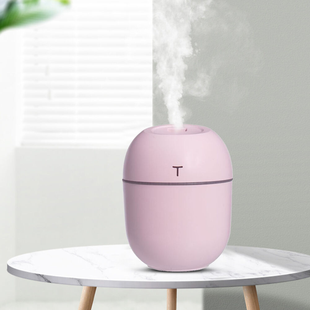 Ultrasonic Silent Air Humidifier Car Aroma Essential Oil Diffuser (Pink)